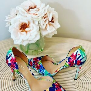 Aldo floral pointed-toe heels